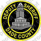 STICKER SHERIFF DADE COUNTY