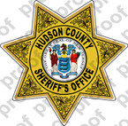 Sticker SHERIFF Hudson County Sheriff Department Badge