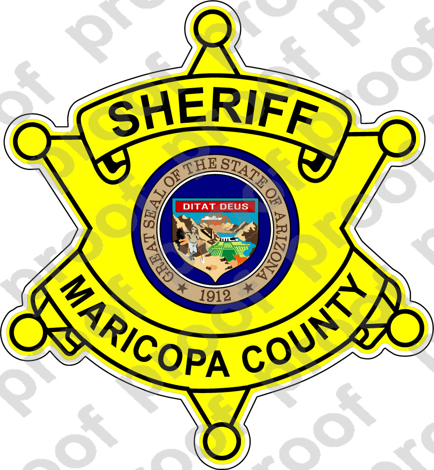 Sticker Sheriff Maricopa County M C Graphic Decals
