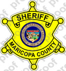 STICKER SHERIFF MARICOPA COUNTY