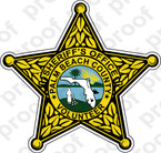 STICKER SHERIFF PALM BEACH COUNTY VOLUNTEER