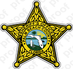 STICKER SHERIFF PALM BEACH COUNTY