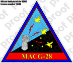 STICKER USMC MACG 28
