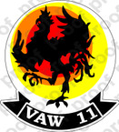 STICKER USN VAW 11 Early Elevens