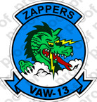 STICKER USN VAW 13 ZAPPERS