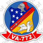 STICKER USN VA 772 RED DEVILS