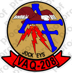 STICKER USN VAQ 208 JOCKEYS