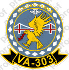STICKER USN VA 303 GOLDEN HAWKS