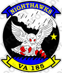 STICKER USN VA 185 NIGHTHAWKS