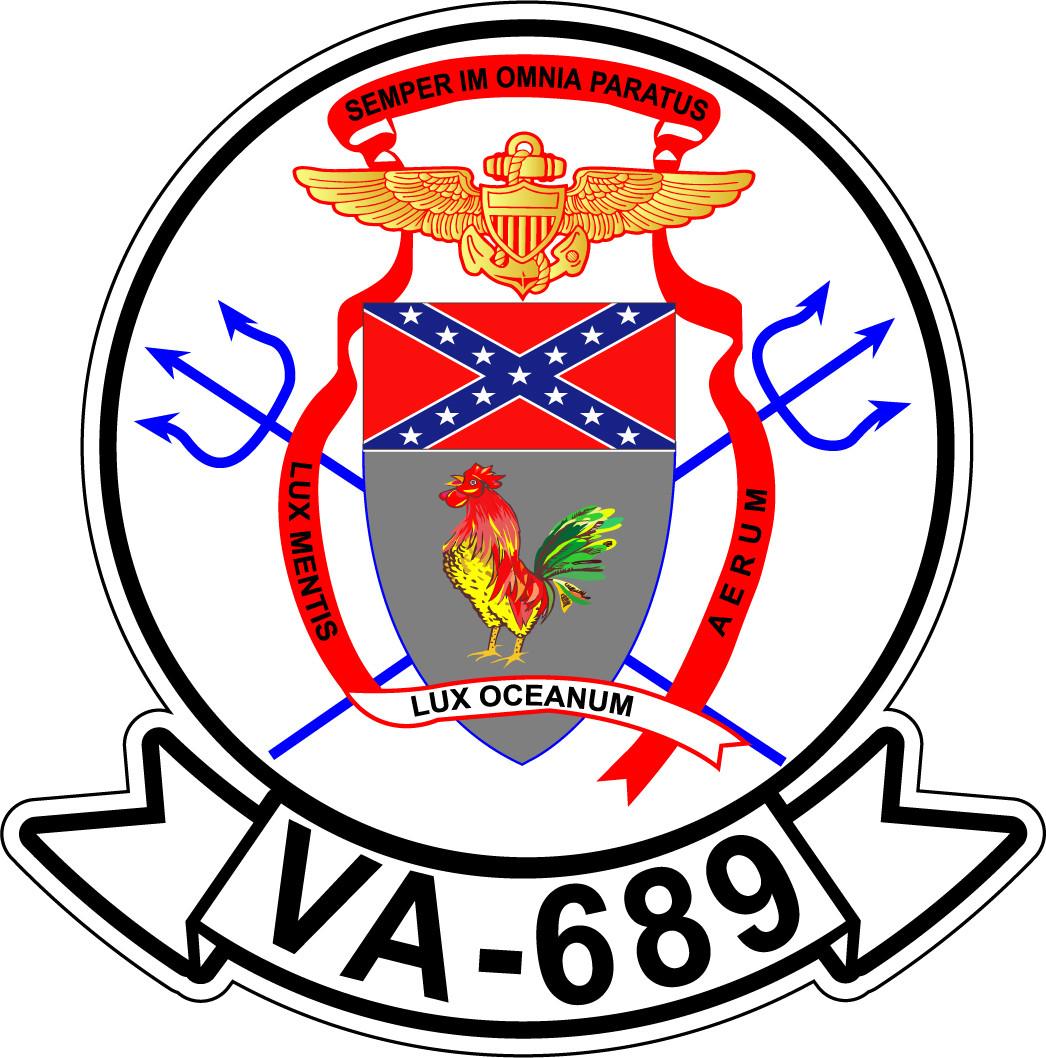 Sticker Usn Va 689 Rebels M C Graphic Decals