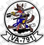 STICKER USNR VA 791 FIGHTING REBELS