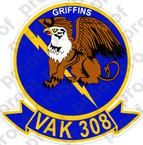 STICKER USN VAK 308 GRIFFINS
