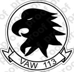 STICKER USN VAW 113 BLACK EAGLES