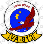 STICKER USN VA 813 SNOW BIRDS