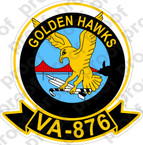 STICKER USN VA 876 GOLDEN HAWKS