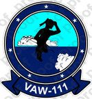 STICKER USN VAW 111 EARLY ELEVENS