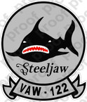 STICKER USN VAW 122 STEELJAWS
