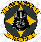STICKER USN VAQ 209 STAR WARRIORS