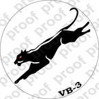 STICKER USN VB 3 BLACK PANTHERS