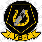 STICKER USN VB 7 BOMBING SQUADRON