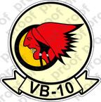 STICKER USN VB 10 BOMBING SQUADRON