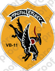 STICKER USN VB 11 BOMBING SQUADRON