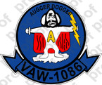 STICKER USN VAW 1086 AUGGER DOGGER