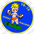 STICKER USN VB 18 SUNDAY PUNCHERS
