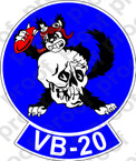 STICKER USN VB 20 BOMBING SQUADRONB