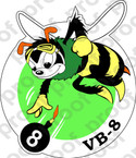 STICKER USN VB 8 BOMBING SQUADRON