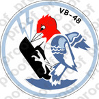 STICKER USN VB 48 BOMBING SQUADRON