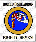 STICKER USN VB 87 BOMBING SQUADRON
