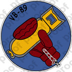 STICKER USN VB 89 BOMBING SQUADRON