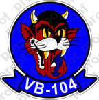 STICKER USN VB 104 BUCCANEERS