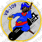 STICKER USN VB 109 Reluctant Raiders