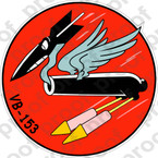 STICKER USN VB 153 BOMBING SQUADRON