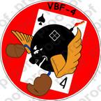 STICKER USN VBF 4 Flying Ubangis