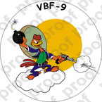 STICKER USN VBF 9 ATTACK BOMBING SQUADRON