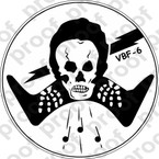 STICKER USN VBF 6 ATTACK BOMBING SQUADRON