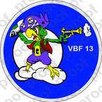 STICKER USN VBF 13 ATTACK BOMBING SQUADRON