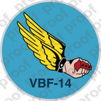 STICKER USN VBF 14 ATTACK BOMBING SQUADRON