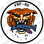STICKER USN VBF 86 ATTACK BOMBING SQUADRON