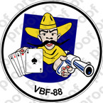 STICKER USN VBF 88 ATTACK BOMBING SQUADRON