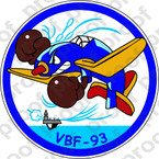STICKER USN VBF 93 ATTACK BOMBING SQUADRON