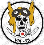 STICKER USN VBF 95 ATTACK BOMBING SQUADRON
