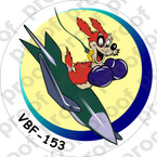 STICKER USN VBF 153 ATTACK BOMBING SQUADRON