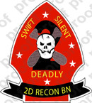 STICKER USMC UNIT   2ND RECONNAISSANCE BN A