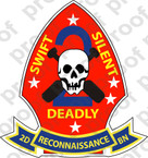 STICKER USMC UNIT   2ND RECONNAISSANCE BN B