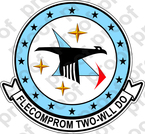 STICKER USN VC 2 BLUE FALCONS