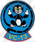 STICKER USN VC 13 FOOLS IN GODS OCEAN